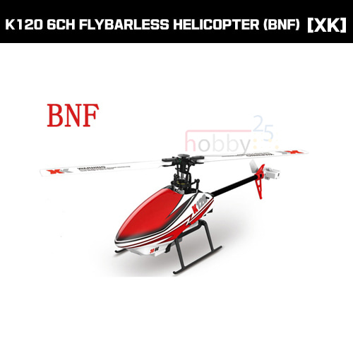 [XK] K120 6CH FLYBARLESS HELICOPTER (BNF) [K120-B](* 전파인증 완료*)