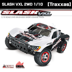 [Traxxas] 슬래쉬 2륜 브러쉬리스 1/10 SLASH VXL 2WD Brushless OBA & TSM