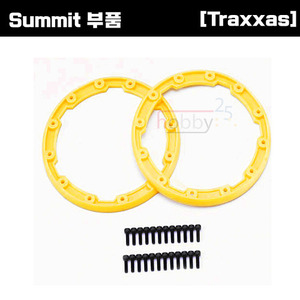 [Summit 부품] AX5665 Sidewall protector beadlock style (yellow) (2)/ 2.5x8mm CS (24) (for use with Geode wheels)