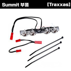 [Summit 부품] AX5684 LED Lightbar (chrome fits Summit roll cage)/ light harness (4 clear lights)/ harness adapter