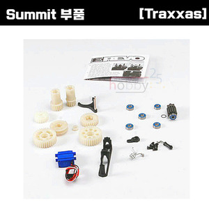 [Summit 부품] AX5692 Two speed conversion kit (E-Revo) (includes wide and close ratio first gear sets sub-micro servo and linkage) (Requires 3 channel transmitter)