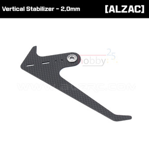 [ALZRC] Devil 380 FAST 3K Carbon Vertical Stabilizer - 2.0mm [D380-U02]