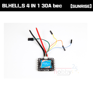 [SUNRISE Model] CICADA BLHELI_S 4 IN 1 30A ESC bec [D-SHOT 600지원]