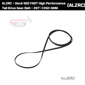 ALZRC - Devil 420 FAST High Performance Tail Drive Gear Belt - 2GT-1250-5MM [D420F01]