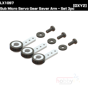 LX1097 - Sub Micro Servo Gear Saver Arm - Set 3pc