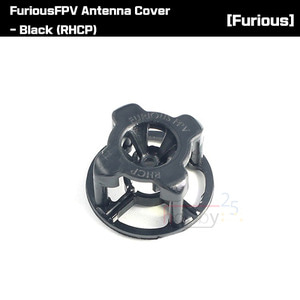 [FuriousFPV] Antenna Cover - Black (RHCP) [FPV-0334-S]