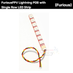 [FuriousFPV] Lightning PDB with Single Row LED Strip [FPV-PDB-1R]