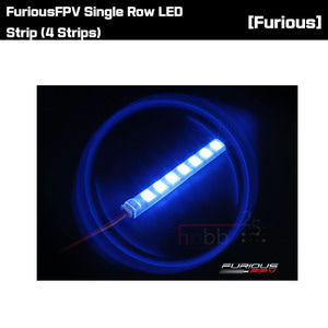 [FuriousFPV] Single Row LED Strip (4 Strips) [FPV-LED1R]