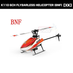 [XK] K110 6CH FLYBARLESS HELICOPTER (BNF) [K110-B](* 전파인증 완료*)