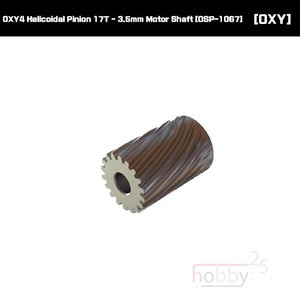 OXY4 Helicoidal Pinion 17T - 3.5mm Motor Shaft [OSP-1067]