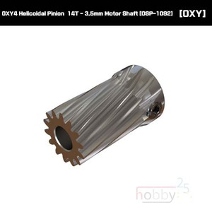 OXY4 Helicoidal Pinion  14T - 3.5mm Motor Shaft [OSP-1092]