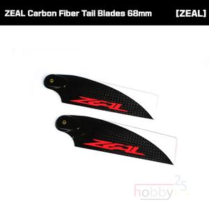 ZHT-068C ZEAL Carbon Fiber Tail Blades 68mm (Neon Orange)