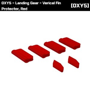 OSP-1393 OXY5 - Landing Gear - Verical Fin Protector, Red