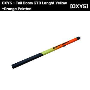 OSP-1413 OXY5 - Tail Boom STD Lenght Yellow-Orange Painted