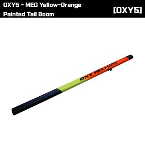 OSP-1414 OXY5 - MEG Yellow-Orange Painted Tail Boom